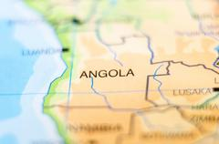 angola country on map - stock photo