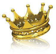the golden crown - stock illustration
