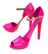 the high heels - stock illustration