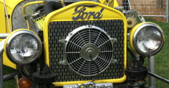 Old vintage Ford at car show in Canada - stock footage