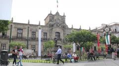 Guadalajara government palace Stock Footage
