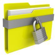 The locked folder Stock Illustration
