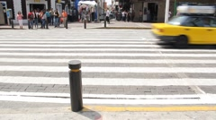 Mexican people crossing the streets Stock Footage