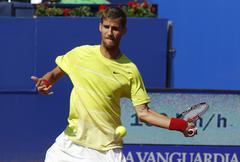 Slovakian tennis player Martin Klizan Stock Photos