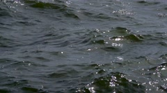 Slow motion choppy water - stock footage