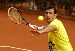 Croatian tennis player Ivan Dodig - stock photo