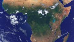 Realistic Earth Globe Zoom and Dock on Central Africa Arkistovideo