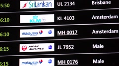 Flights arrival information Stock Footage