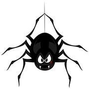 Funny freaky spider Stock Illustration