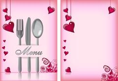 Stock Illustration of menu card for valentines day