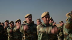 Kurdish Peshmerga training in Northern Iraq - stock footage