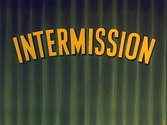 Intermission Tag With Green Curtain Stock Footage