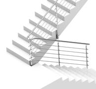 the white stair - stock illustration