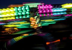 carnival midway lights - stock photo