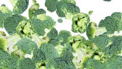 Broccoli background video (with alpha) Stock Footage