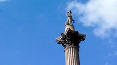 Nelson's Column Stock Footage