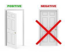 positive and negative - stock illustration