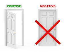 Positive and negative Stock Illustration