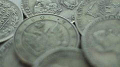 Russian coin of 18-19 centuries Stock Footage