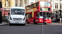 London Buses and Taxis Stock Footage