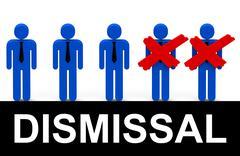 dismissal - stock illustration