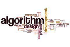Algorithm word cloud Stock Illustration