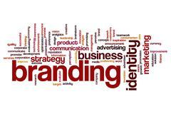 Branding word cloud Stock Illustration
