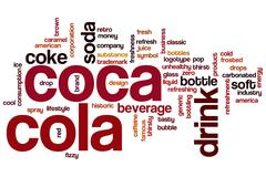 coca cola word cloud - stock illustration