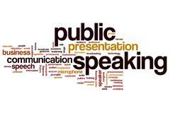 Public speaking word cloud Stock Illustration