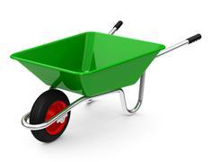 the wheelbarrow - stock illustration