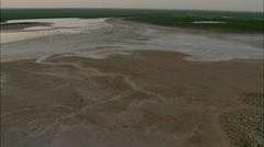 Mongolia Plains Lake Stock Footage