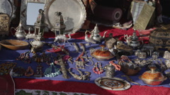 Traditional Moroccan Store Goods Stock Footage