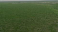 Mongolia Plains Aerial Footage Stock Footage