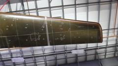 Virgin Galactic Spaceship Wing in Factory Stock Footage