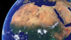 Realistic Earth Globe Zoom and Dock on West Africa Stock Footage