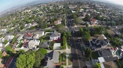 Neighborhood Aerial View - stock footage