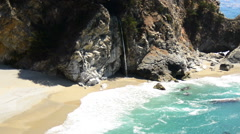 Time Lapse of McWay Falls Beach, Big Sur California Stock Footage