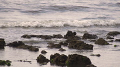 View of waves in the sea, slow motion shot Stock Footage