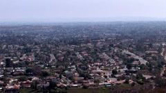 San Diego Horizon/Cowles Mountain/Lake Murray/ Pan Stock Footage