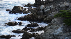 Time Lapse of Ocean Waves Crashing on Rocks - Big Sur - stock footage