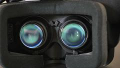 4K - VR headset Stock Footage