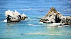 Pacific Ocean Waves Crashing on Rocks - Big Sur Stock Footage