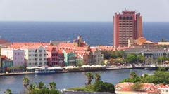 Willemstad, capital of Curacao (Dutch Caribbean) 2 Stock Footage