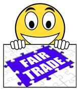 Stock Illustration of fair trade sign means shop or buy fairtrade products
