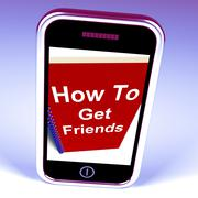 How to get friends on phone represents getting buddies Piirros