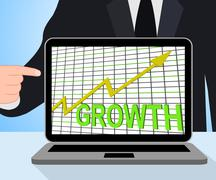 Growth graph chart displays increase sales profit Piirros