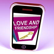 Love and friendship phone represents keys and advice for friends Piirros