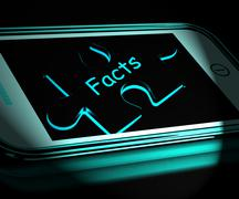 Stock Illustration of facts smartphone displays true and honest answers