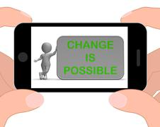 Stock Illustration of change is possible phone means rethink and revise
