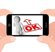 Okay and 3d character displays o.k. ok all right agree Stock Illustration